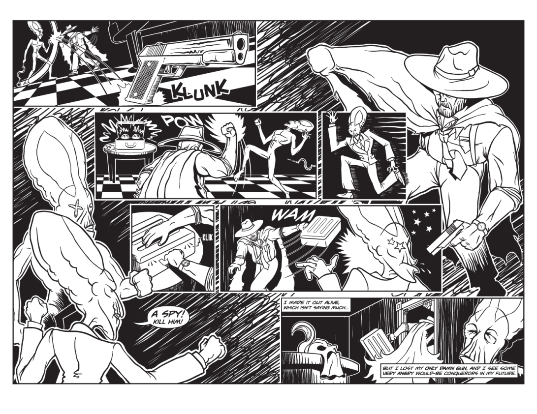 Twisted Tales of Two-Fisted Justice, Issue 1, Pages 8 & 9